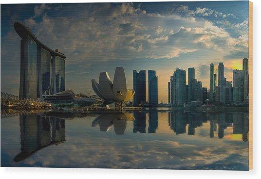 The Singapore Skyline Wood Print
