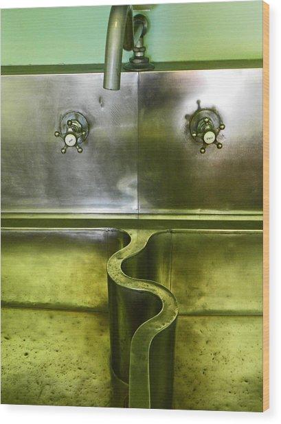 The Sink Wood Print
