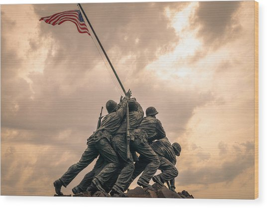 The Skies Over Iwo Jima Wood Print
