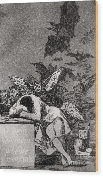 The Sleep Of Reason Produces Monsters Wood Print
