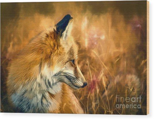 The Sly Fox Wood Print