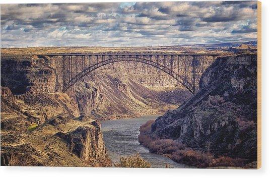 The Snake River At Twin Falls Idaho Wood Print