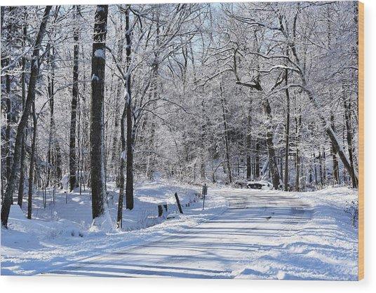 The Snowy Road 1 Wood Print