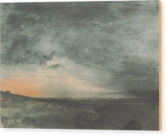 The Solar Eclipse Above Vienna Wood Print