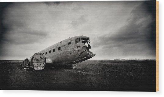 The Solheimsandur Plane Wreck Wood Print