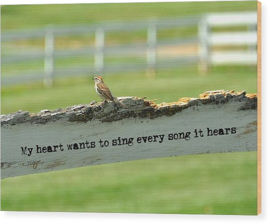 The Sound Of Music Quote Wood Print by JAMART Photography