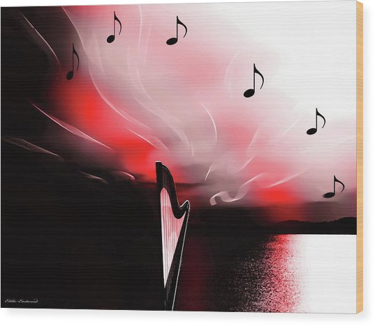 The Sounds Of Sunset Wood Print