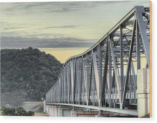 The South Llano River Bridge Wood Print by JC Findley