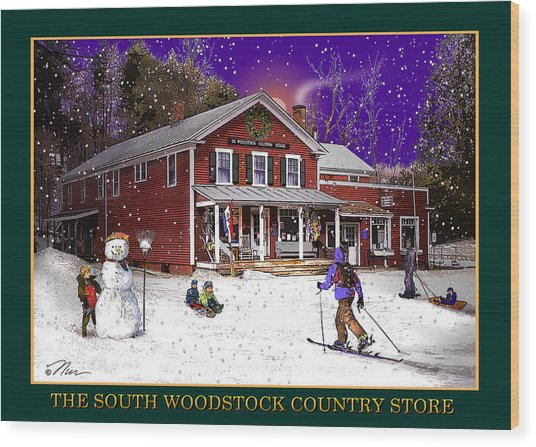 The South Woodstock Country Store Wood Print