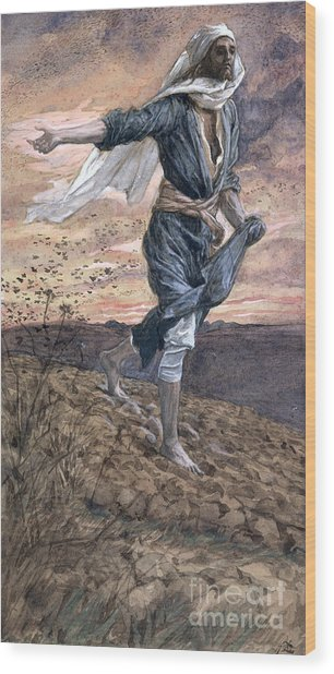 The Sower Wood Print