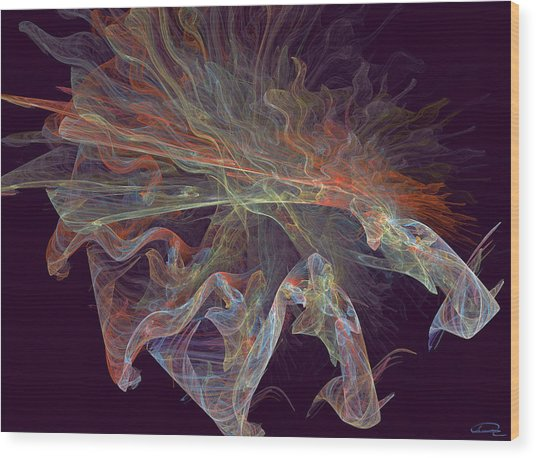 The Spell Wood Print by Emma Alvarez