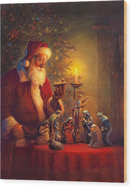 Wood Print featuring the painting The Spirit Of Christmas by Greg Olsen