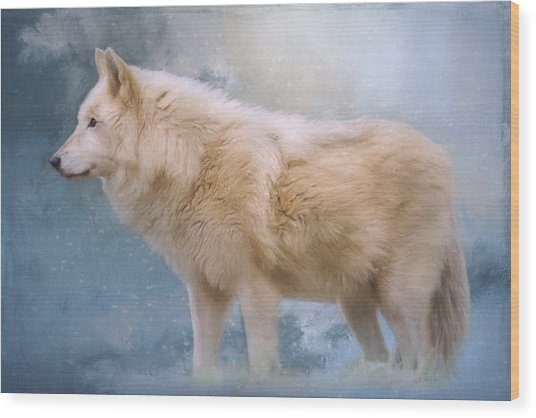 The Spirit Within - Arctic Wolf Art Wood Print