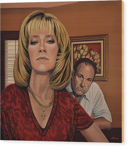 The Sopranos Painting Wood Print
