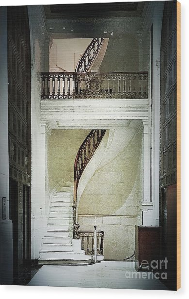 The Staircase Wood Print