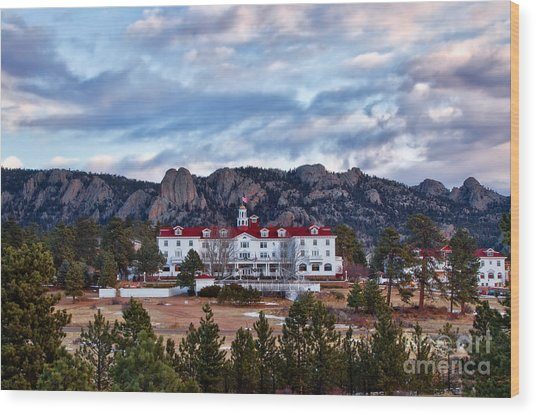 The Stanley Hotel Wood Print