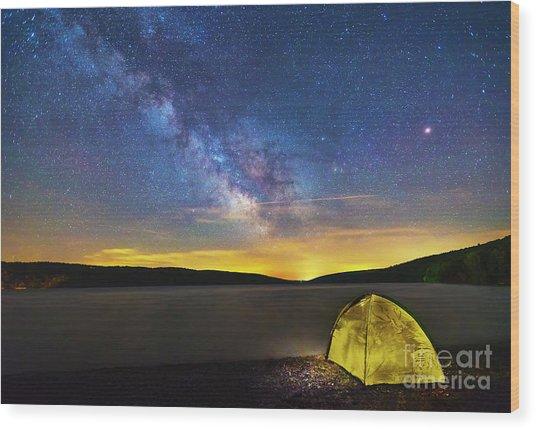 Stellar Camp Wood Print