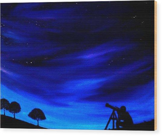 The Star Gazer Wood Print
