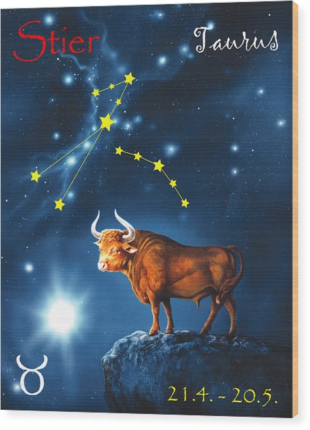 The Star Taurus Wood Print