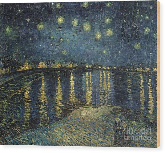 The Starry Night Wood Print