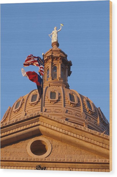 The State Of Texas Capital II Wood Print