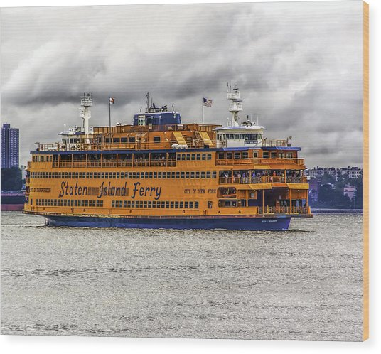 The Staten Island Ferry Wood Print