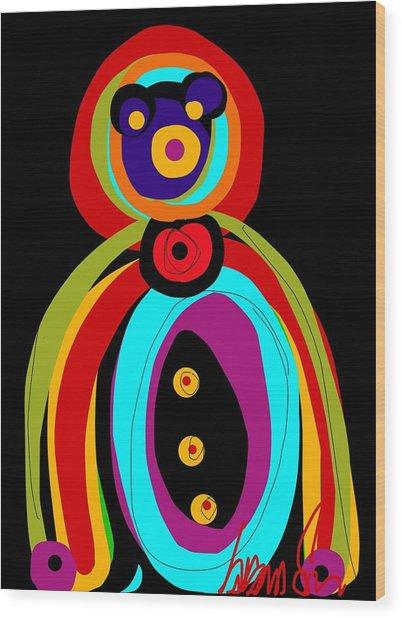 Mr. Teddy Bearitus Wood Print