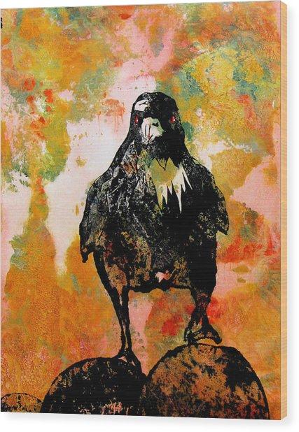 The Stillness Broken Wood Print by Sandy Applegate