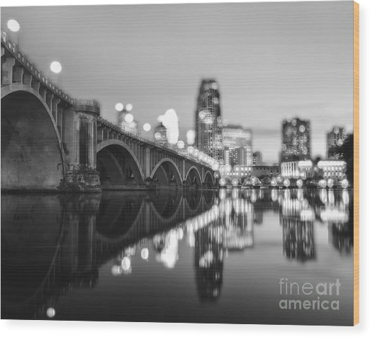 The Central Avenue Bridge Wood Print