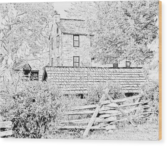 The Stone House At The Oliver Miller Homestead Wood Print