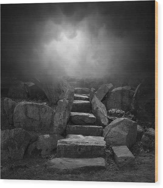 The Stone Steps I Wood Print