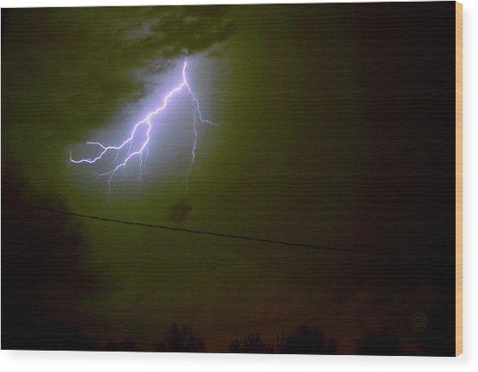 The Storm 2.4 Wood Print