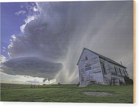 The Storm Will Pass Wood Print