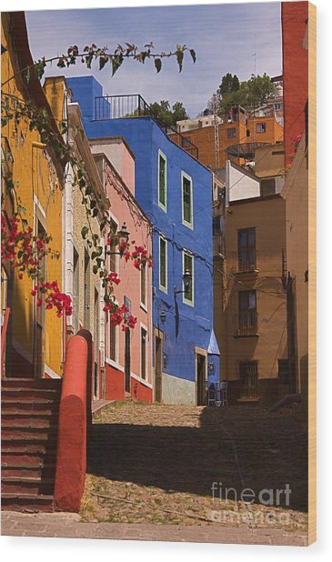 The Streets Of Guanajuato Wood Print