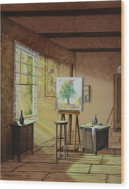 The Studio Wood Print by Don Griffiths