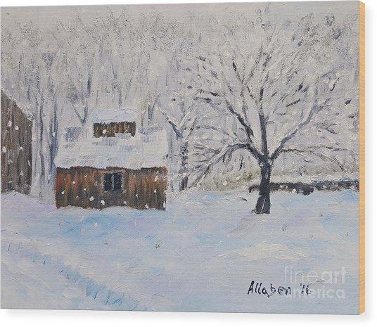 The Sugar House Wood Print
