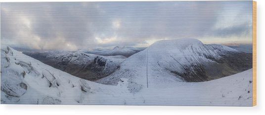 The Summit And Down The Wall Wood Print