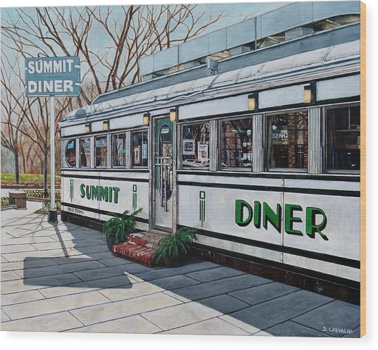 The Summit Diner Wood Print