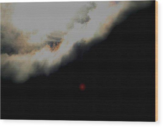 The Sun Behind The Cloud  1 Wood Print by Paul SEQUENCE Ferguson             sequence dot net