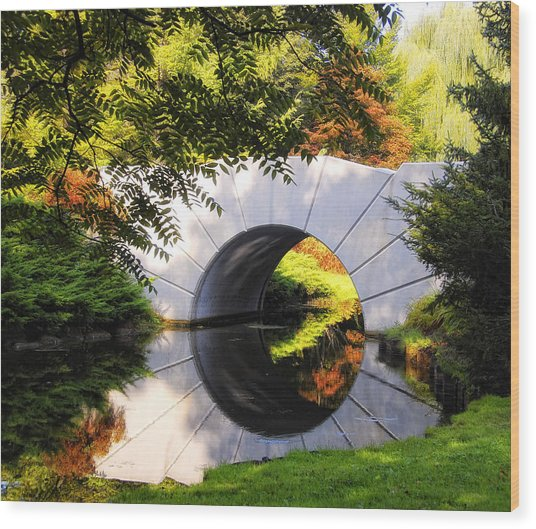 The Sun Bridge Wood Print