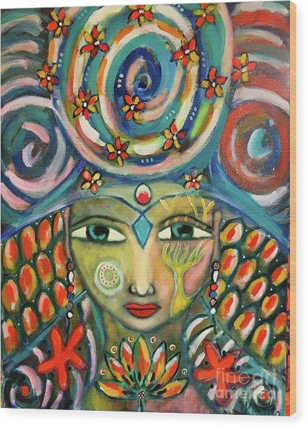 The Sun Goddess  Wood Print