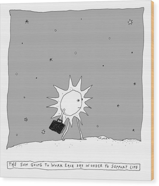 The Sun Going To Work Each Day Wood Print