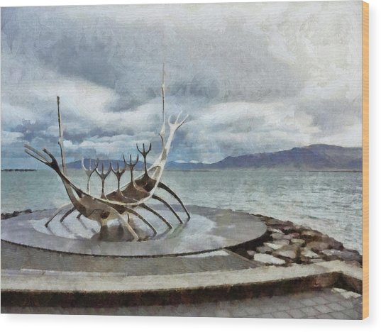 The Sun Voyager Wood Print