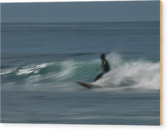 The Surfer Wood Print by R J Ruppenthal