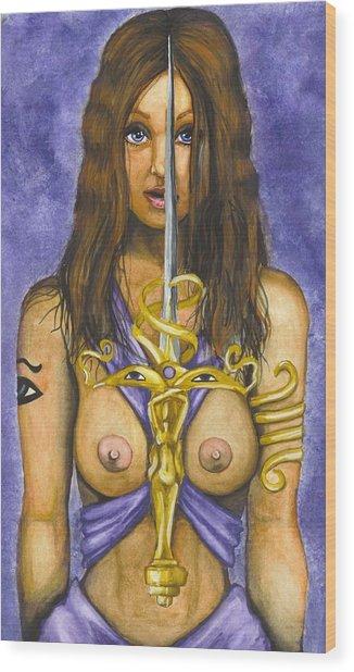 The Sword Of Magic Wood Print by Scarlett Royal