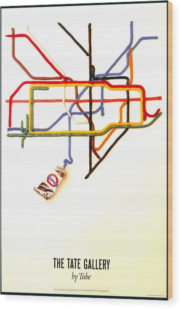 The Tate Gallery - National Galleries And Museums - London Underground - Retro Travel Poster Wood Print