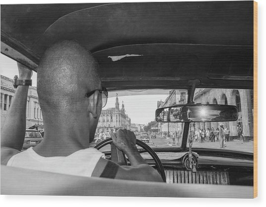 From The Taxi Wood Print