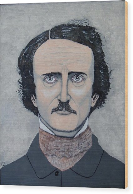 The Telltale Heart Of Edgar Allen Poe. Wood Print
