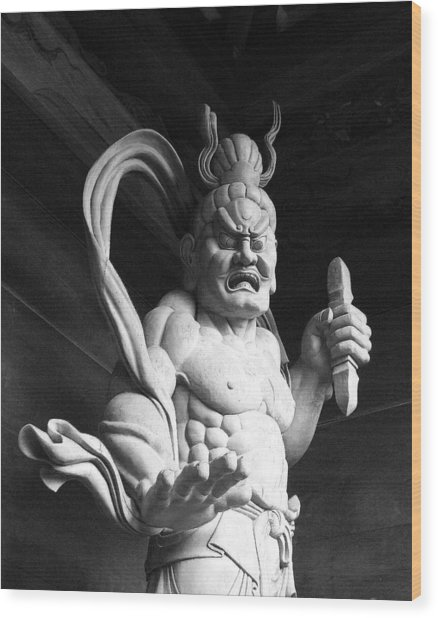 The Temple Guardian Wood Print