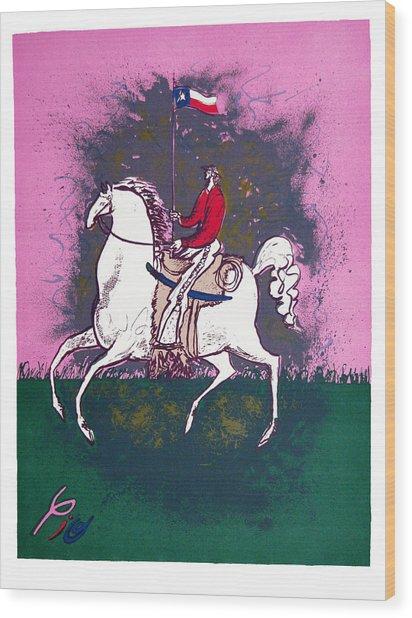 The Texan Wood Print by Pio Pulido